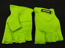 FINGERLESS WINTER MITTS NEON GREEN CYCLING OR ANY SPORTS GLOVES SIZE XL GREEN