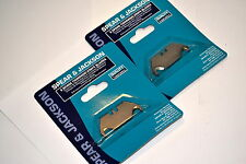 2 NOS SPEAR & JACKSON UK Blister Packs of 5 HOOKED Trimming Knife Blades 1603C