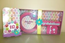18th Birthday Girls Gift Set - Key Photo Frame And Keyring Flower Design (MI142)