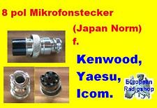Mikrofonstecker für Funkgeräte 8 Pol ( Japan Stecker ) f.  Icom, Yaesu Kenwood