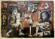 "ANTONI CLAVE Signed 1951 Original Color Lithograph - ""La Sainte Famille"""
