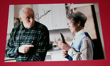 RICHARD WILSON & ANNETTE CROSBIE HAND SIGNED 12X8 PHOTO ONE FOOT IN THE GRAVE