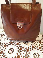 Vintage MANZONI Tan Genuine Leather Shoulder Bag
