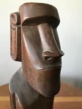 New listing Vintage Easter Island Hand Carved Moai Wood Statue Rapa Nui Pacific Art Figure