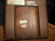 Vintage Amity Key Holds 8 Case/Holder Brown Cowhide Leather In Original Box-New