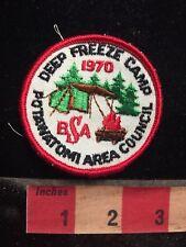 Vtg 1970 DEEP FREEZE CAMP POTAWATOMI AREA COUNCIL Boy Scouts Patch 77V7