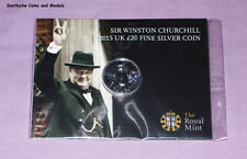 2015 ROYAL MINT SILVER £20 COIN - WINSTON CHURCHILL - MINT SEALED