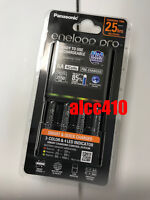 Panasonic Battery Charger Eneloop NiMH AA AAA Fast Smart Charger w/4pcs 2550mAh