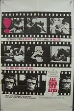 ALL MEN ARE APES one sheet movie poster 27x41 SEXPLOITATION 1965