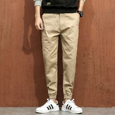 4XL Pocket Elastic Cuffs Chino Pants for Men - Khaki