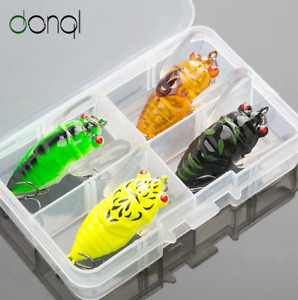 Cicada Insects Fishing Lure Floating Topwater Hard Baits Kit Fishing Set 5cm 6g