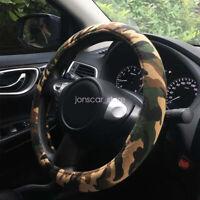 "Automotive Interior Camo Fabric Wrap Camouflage Car Steering Wheel Cover 15"""
