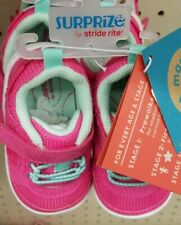 New w/tags, Surprize by Stride Rite Baby Girls Ari Pink Sneakers, size 3 or 4