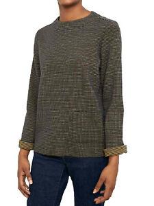 EX Seasalt Green Stripe Cotton Woodlark Top in Sizes 10, 12, 14, 16, 18, 20, 24