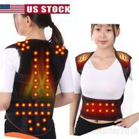Lower Back Support Belt Lumbar Herniated Disc Strain Sciatica Heated Brace Vest