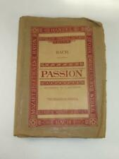 EDWARDIAN MUSIC SCORE Passion of our Lord JS Bach Novello's Octavo Edition