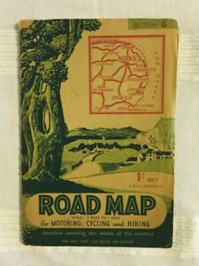 Vintage Road Map of Norfolk for Motorcycling, Cycling and Hiking (Undated)