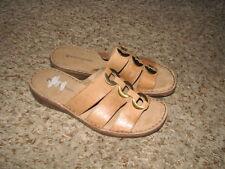 EUC Wmns Sz 7 1/2 Beige Leather Naturalizer Sandals
