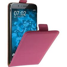 Artificial Leather Case Huawei Honor 8 - Flip-Case hot pink + protective foils
