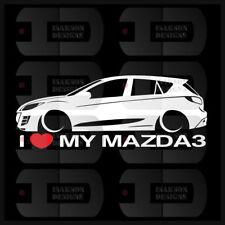 I Heart My Mazda 3 Sticker Love Slammed JDM Japan Speed Low Stance Hatch BL Gen2