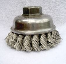 "3-1/2"" Weiler Single Row .023 Steel Wire Cup Brush for 1/2""-13 UNC Arbor 3 Each"