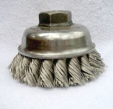 """3-1/2"""" Weiler Single Row .023 Steel Wire Cup Brush for 1/2""""-13 UNC Arbor 6 Each"""