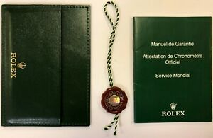 ROLEX c.2007-2013 CARD HOLDER with WARRANTY BOOKLET & Chronometer SWING-TAG