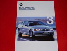 Bmw 3er e46 Coupe 318ci 320ci 323ci 328ci folleto de 1999