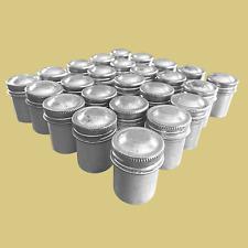 New listing Vintage Aluminum Film Cannisters (Metal Cap) Lot of 25