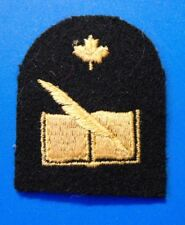 Canadian Armed Forces Navy Financial Clerk trade sleeve badge patch