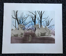 "PATRICK PROCKTOR RA ""Camels, Tomb of the First Emperor"" Artist Proof ETCHING"