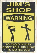 affordable art prints Warning Ji 00004000 m's Shop tin metal sign