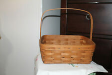 LONGABERGER Hospitality woven Wood DCC 1998 Basket With Handle Dreseden Ohio USA