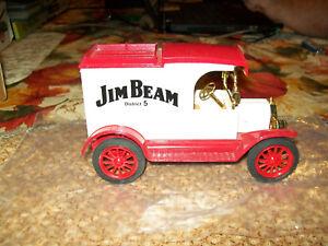 """Ertl #9412 1913 Ford Model """"T"""" Van """"Jim Beam District 5 #1"""" Die-cast Bank MIB"""