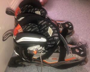 Rollerblade Inline Skates Blades Orange Silver Black Size 42.5 EU 8.5 UK 9.5 US