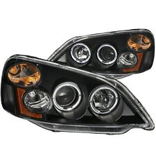 ANZO PROJECTOR HEADLIGHTS BLACK w/ HALO FOR 01-03 HONDA CIVIC 2/4DR
