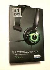 XBOX 360 PDP Afterglow AX.4 Wired Headphone Headset Mic Gaming Chat Communicator