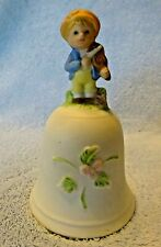 Porcelain Homco Bell 1416 Boy with Violin Fiddle Taiwan