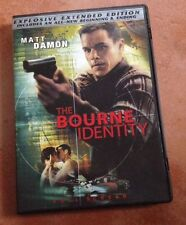 ☀️ The Bourne Identity DVD Extended Edition FS French Spanish Audio MINT R1