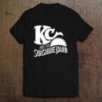 KC And The Sunshine Disco Funk Band Logo Men's Black White T-Shirt Size S-2XL