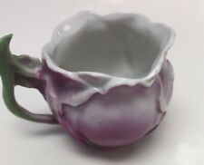 Mini China Pitcher Antique Purple With Green Handle