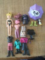 "Polly Pocket Doll Lot ""Colors of the Rainbow"" Black Clothes Accessories 9-84"