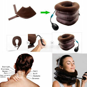 Neck Traction Inflatable Support Cervical Relief Pneumatic Ache Pain Relax Aid
