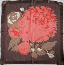-  Foulard   FRANÇOISE GUERIN  soie mousseline TBEG  vintage scarf  87 x 87 cm