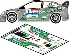 DECALS 1/43FORD FOCUS WRC #8 - BEAUBELIQUE - RALLYE DU TOUQUET 2012 - D43162