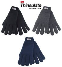 Mens Ladies Womens Knitted Gloves 3M Thinsulate Lined Thermal Winter Work Adult