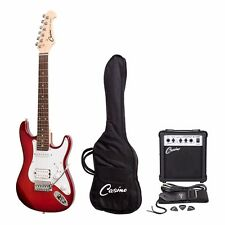 NEW Casino ST-Mini 3/4 Size Electric Guitar & Amp Pack for Kids (Wine Red)