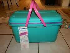 Eagle CraftStor Craft & Sewing Storage Container Large Tote vintage W/ Supplies