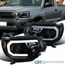 For Toyota 12-15 Tacoma Pickup Glossy Black LED Bar Smoke Projector Headlights