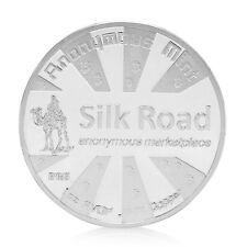 Silk Road Silver Commemorative Coins Bitcoin BTC Coin Collectible Gift Hot